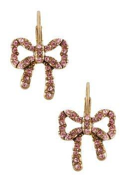 Crystal Bow Drop Earrings