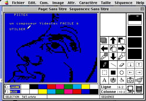 Pictex (1988), a videotex graphic editor by Serge Villa.