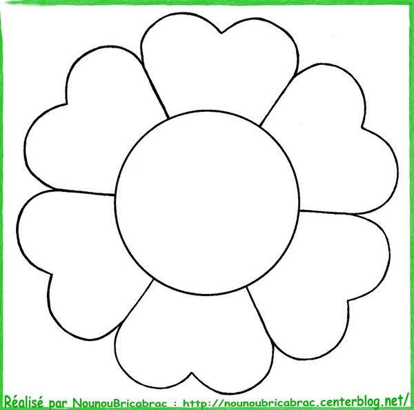 Exemple Modele Fleurs A Imprimer Coloriage Fleur A Imprimer Coloriage Fleur Gabarit Fleur