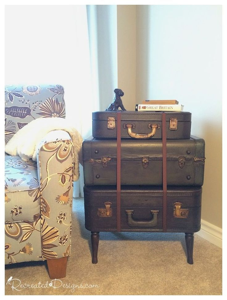 how to make an old suitcase into a table