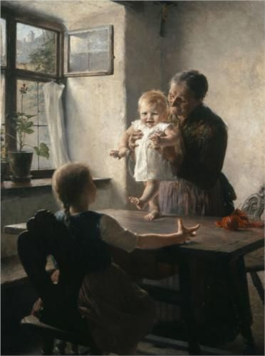 First Steps - Georgios Jakobides, 1892  Realism