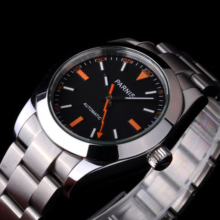 Parnis (Rlx Milgauss Oyster homage) watch, Miyota mvmnt,sapphire, UK seller!
