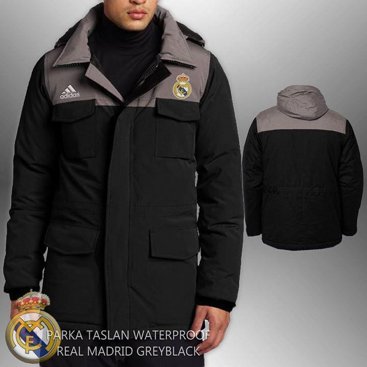 Jaket Parka Real Madrid  http://www.berkahmurah.com/2015/11/jaket-parka-waterproof-real-madrid-grey.html