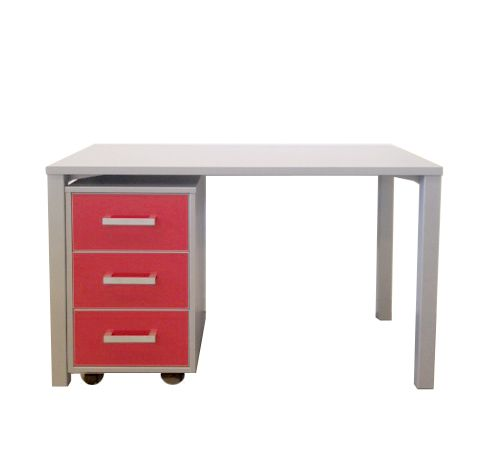 Urban Desk and Moby in silver Haze with Red GLOSS drawers ♥