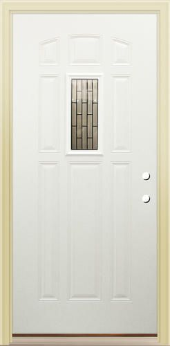 "Mastercraft Kathryn 32"" x 80"" Primed Steel 9-Panel Exterior Door - LH at Menards"