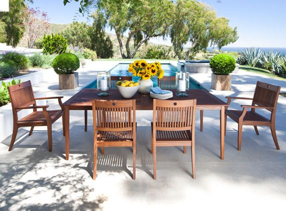 Ipé Patio Furniture By Jensen Leisure   Opal Dining Set   Sheridan Nurseries
