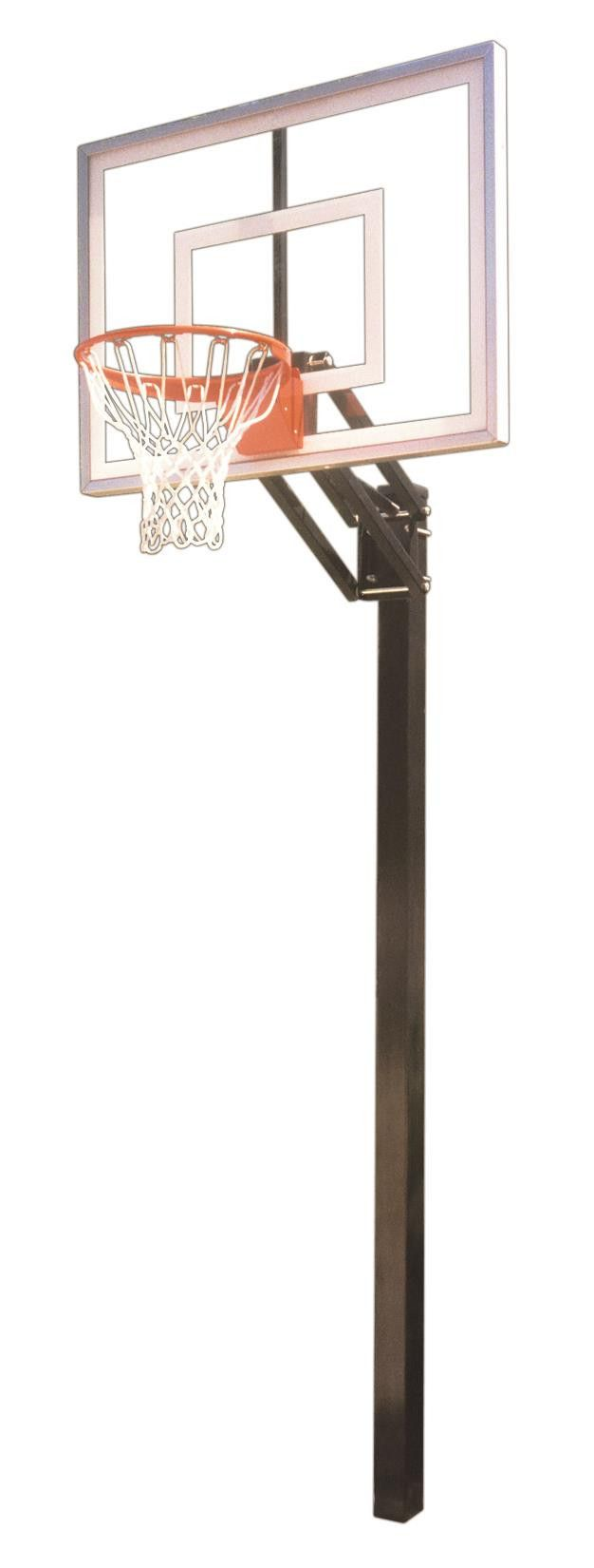 First Team Champ Turbo In Ground Outdoor Adjustable Basketball Hoop 54 inch Tempered Glass from NJ Swingsets