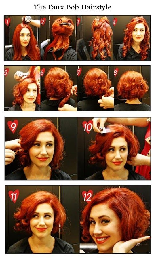 The Faux Bob Hairstyle   hairstyles tutorial...for all my friends who think they want to cut, but don't want to commit! -M