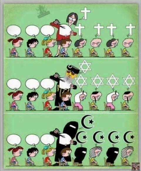 Η κάθε θρησκεία κόβεται και ραβεται στα μέτρα της κάθε εθνικότητας. Λάθος; δε θα το έλεγα..  #religions