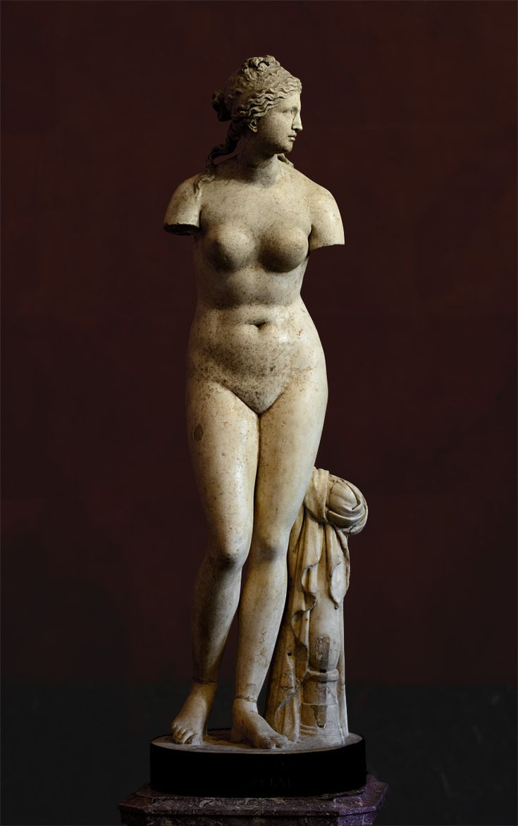 Aphrodite (Venus Tauride). Marble. Greek work of the 2nd century BCE (?). Height 167 cm. Inv. No. ГР-3054 / A.150. Saint-Petersburg, The State Hermitage Museum. (Photo by I. Sh.).