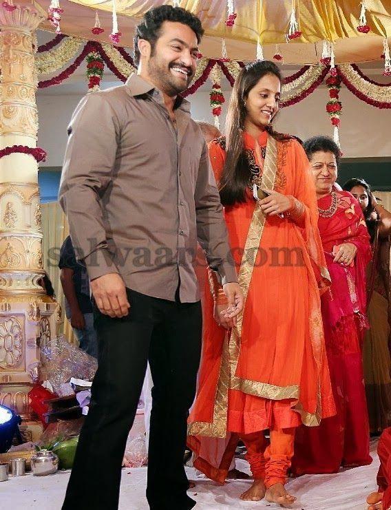 Jr Ntr Wife In Orange Salwar Indian Dresses In 2020 Elegant Blouse Designs Indian Dresses Kurta Designs Women