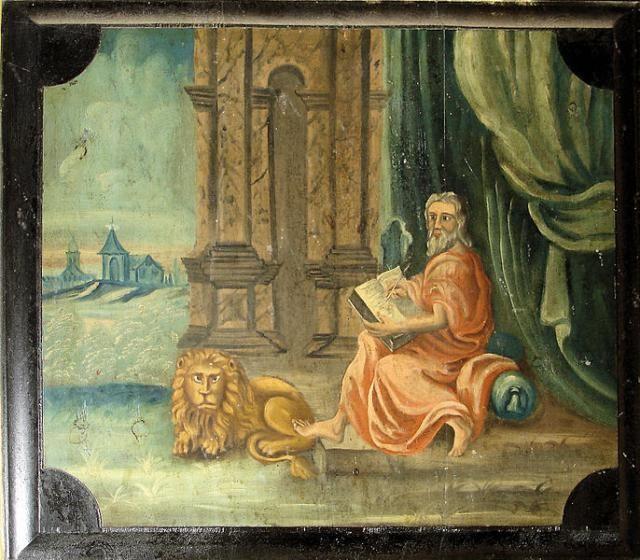 "Who Was Saint Mark the Evangelist?: The painting ""Mark the Evangelist"" (circa 1759) by Kirche Lambrechtshagen"