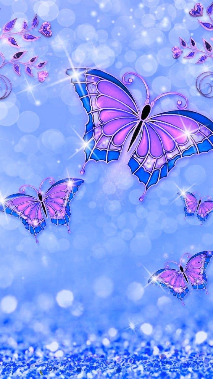 Wallpaper By Artist Unknown Butterfly Wallpaper Butterfly Wallpaper Iphone Sparkle Wallpaper
