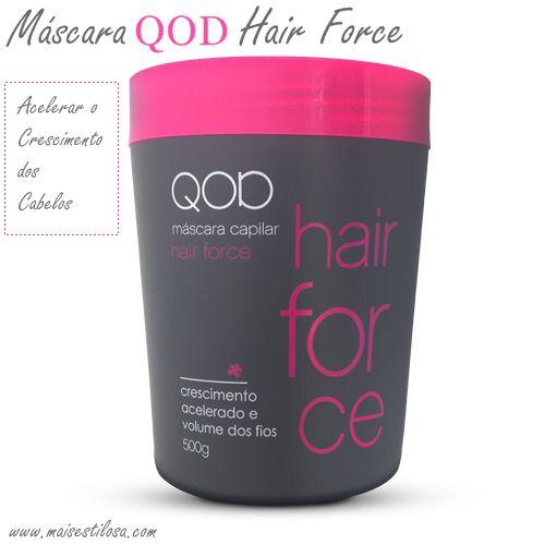 Essa semana recebi em meu email uma super novidade: a máscara para acelerar o crescimento dos cabelos QOD hair force. Essa máscara é da mes...