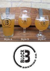 Beer Glasses, Block Three Brewery Co.