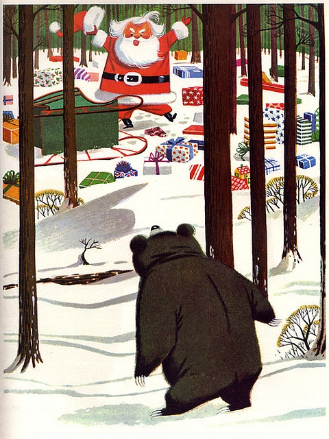page from My Christmas Treasury, illustrated by Lowell Hess, 1957