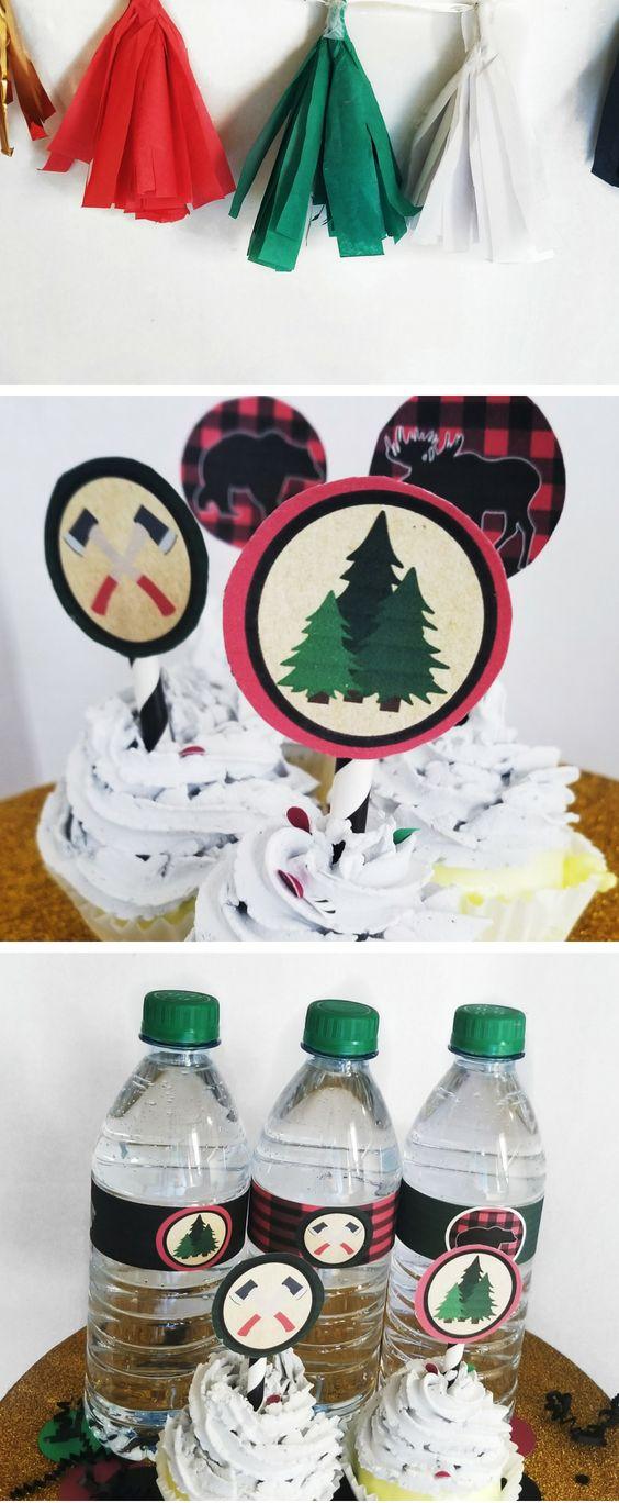 DIY Printable Lumberjack Cupcake Toppers for a Lumberjack ...