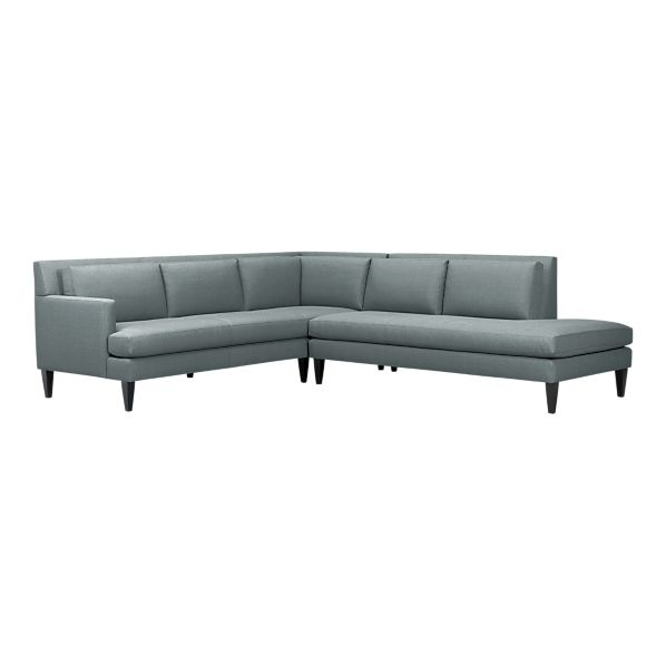 Crate barrel sidecar sectional 2 699 living room for Sofa bed 8101