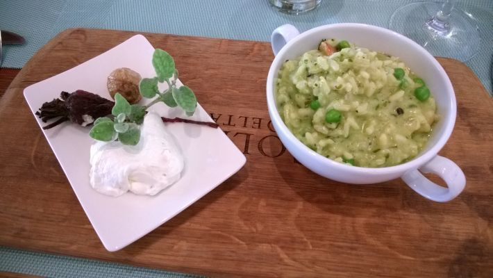 Vegetarian risotto, Fyndraai restaurant on the Solms Delta estate in Franschhoek, Western Cape winelands