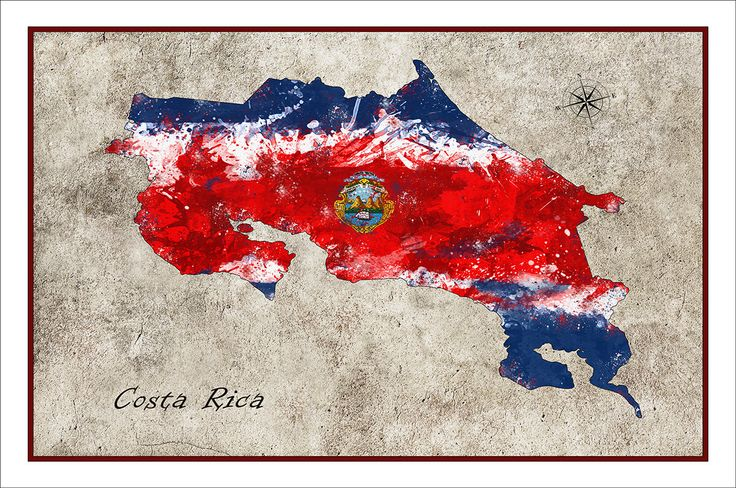 Costa Rica Map, Costa Rica, Map of Costa Rica, Costa Rica Flag Map, Custom Maps by WaterColorMaps on Etsy https://www.etsy.com/listing/179790938/costa-rica-map-costa-rica-map-of-costa