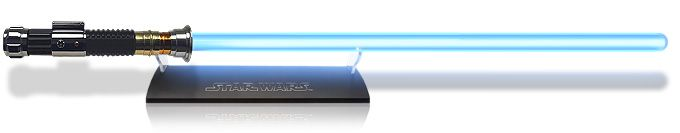 Obi-Wan Kenobi Lightsaber replica...yea i'm a nerd.