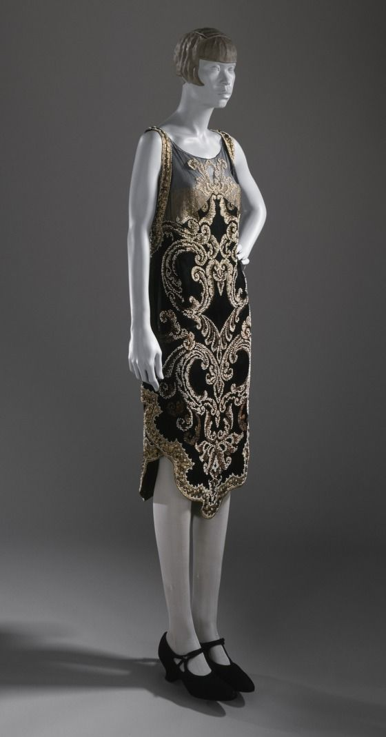 ~Woman's Evening Dress Callot Soeurs (attributed to) (France, Paris, couture house, circa 1890- circa 1950) France, circa 1926 Costumes; prin...~