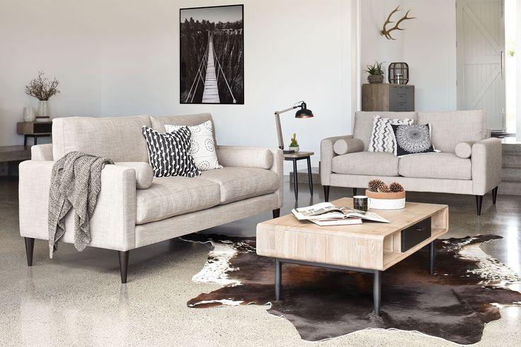 Ealing 2 Piece Fabric Lounge Suite by Evan John Philp