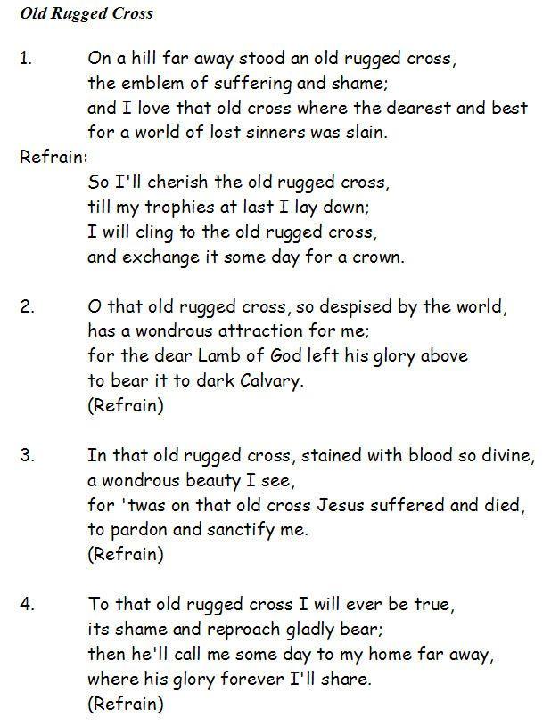 Old Rugged Cross Lyrics Jpg 618 814