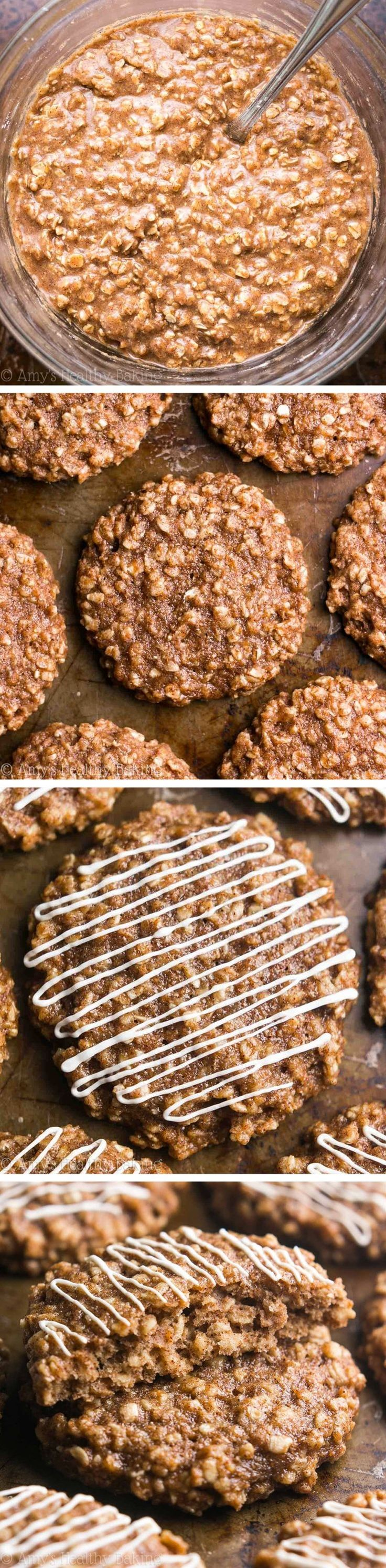 Cinnamon Roll Oatmeal Cookies - just 97 calories