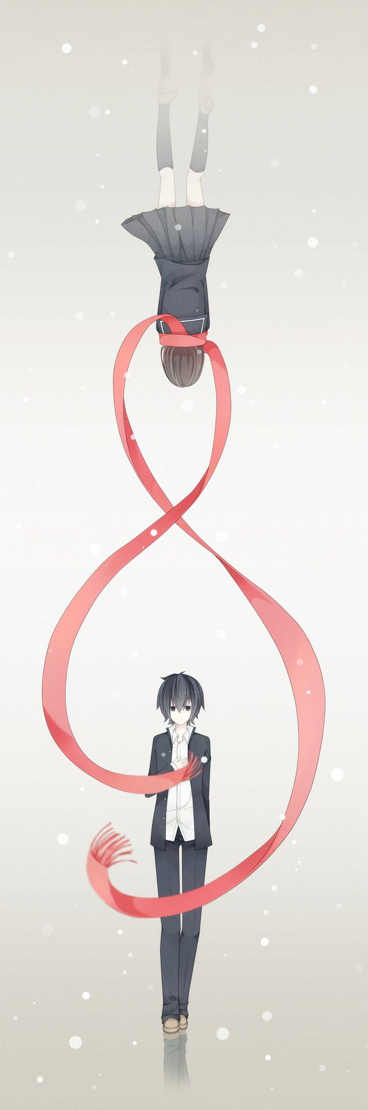 una nueva versión del hilo rojo del destino, me gusta!! :3