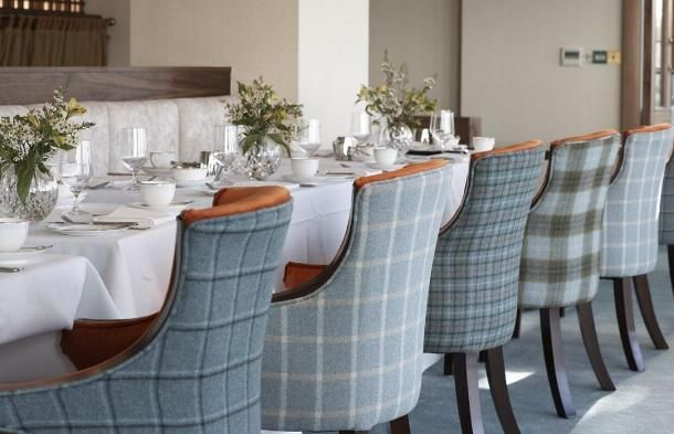 Plaid Upholstered Dining Chairs. | Kitchen Thoughts | Pinterest |  Upholstered Dining Chairs, Dining Chairs And Dining Room Chairs