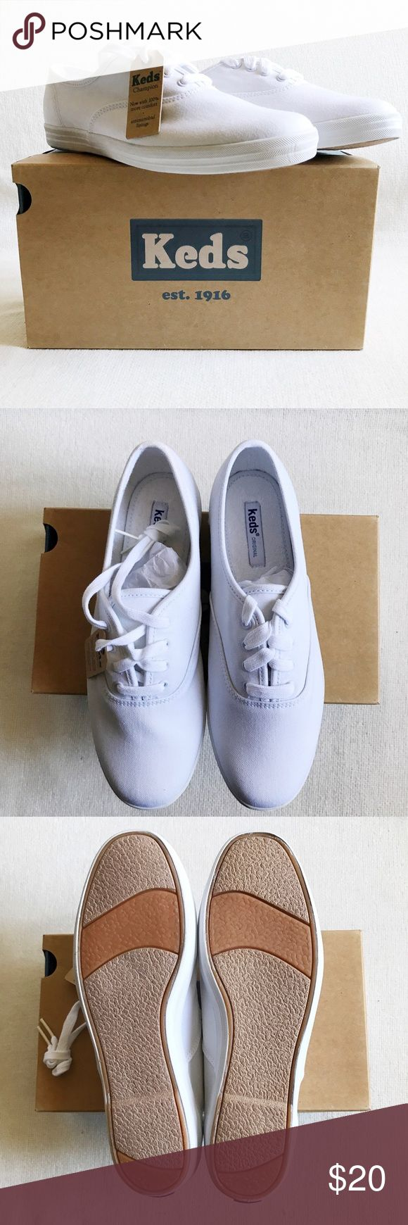 👟 Keds Champion Original Canvas Sneakers New with tags but has markings inside the shoes (see photo) and some wear on the inside of the shoe from people trying on the shoes in-store. Outer area of the shoe is clean and has no markings/holes/tears. Keds Shoes Sneakers