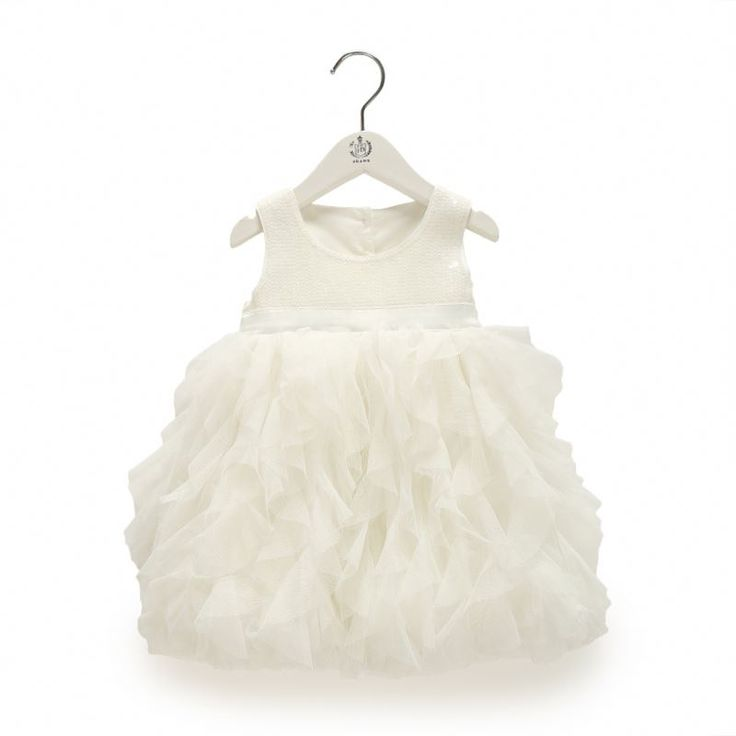 Wholesale Children'S Boutique Clothing Baby Girl White Party Dress