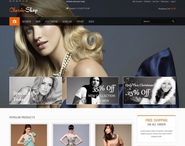The theme is clear, easy to customize Magento template ( easy change color, font with admin option).
