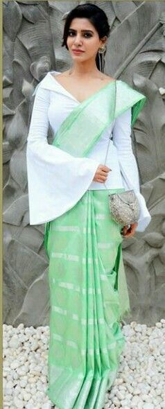 Tops with saree trends, how to style tops with saree
