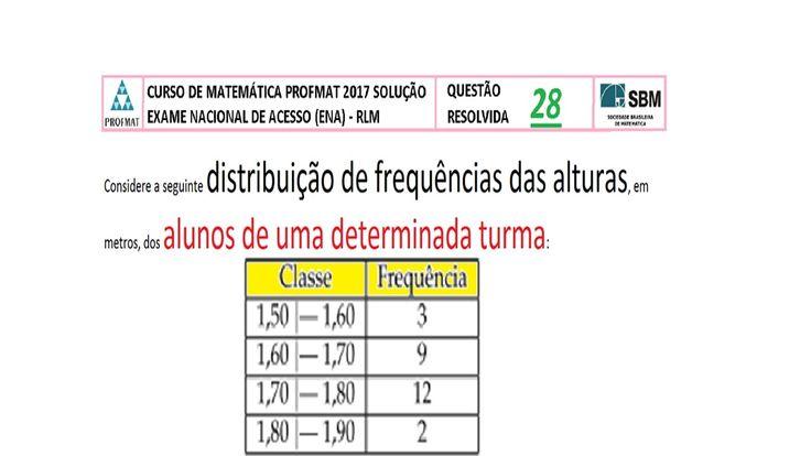 CURSO DE MATEMÁTICA PROFMAT 2017 SOLUÇÃO QUESTÃO 28 RESOLVIDA EXAME NACI... https://youtu.be/CdBz8IcbDHM