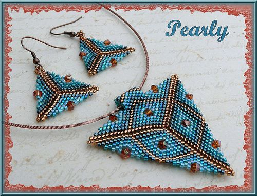 triangle turquoise copper by pearly beads, via Flickr