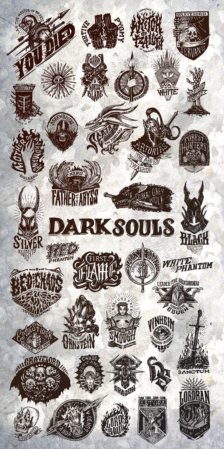 Dark Souls Emblem Collection on Behance by Robba SC