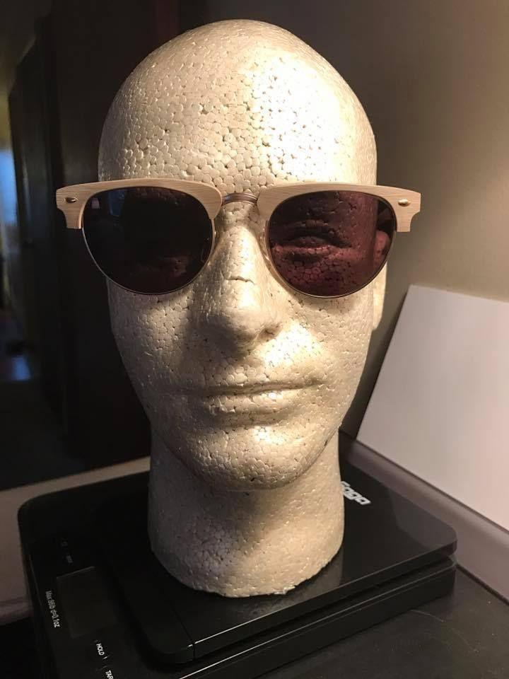 THE HAMPTONS Walnut & Gold RX Sunglasses Eye Buy Direct 50~20~145 C6 Cat 3 #EyeBuyDirect