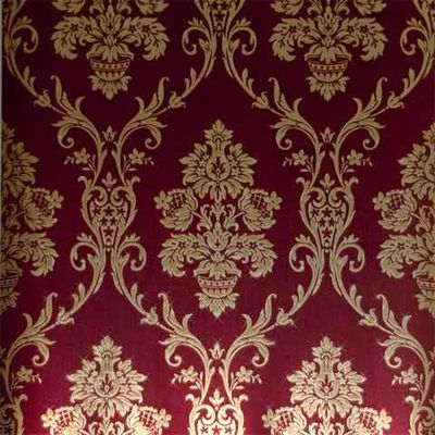 Red & Gold Damask Wallpaper
