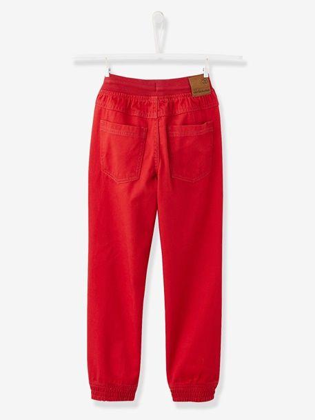 Pantalon garçon sergé - Encre+Gris+Rouge - 8