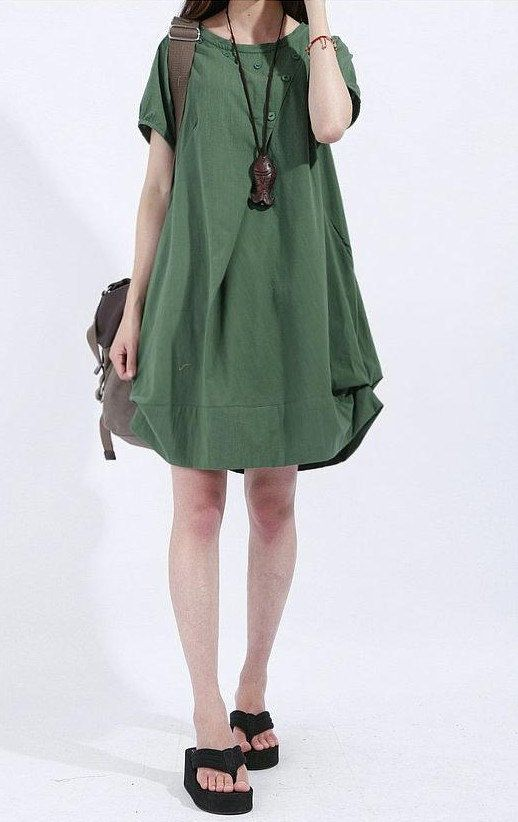 Lagenlook Summer short sleeve Dressmore colour and by ...