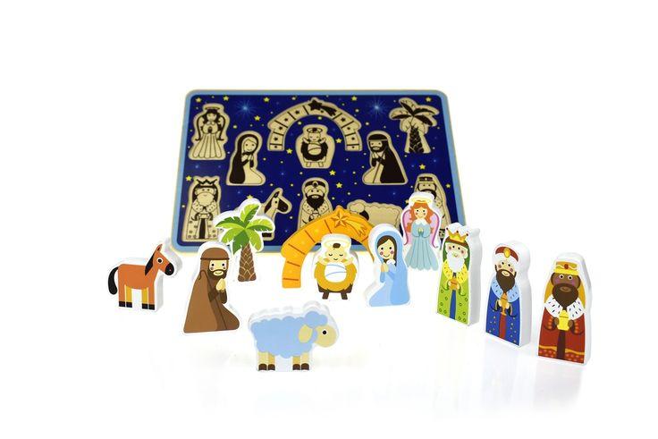 Tooky Toy - Chunky Wooden Christmas Nativity Puzzle 2  #EntropyWishList #PinToWin