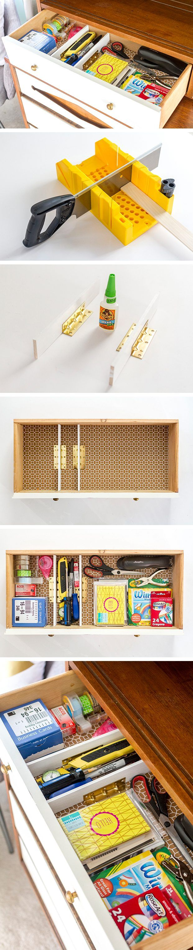 Drawer dividers are as easy as gluing