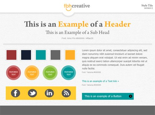 Using Style Tiles To Streamline The Web Design Process Indianapolis Agency Tbh Creative Blog Pinterest Tile