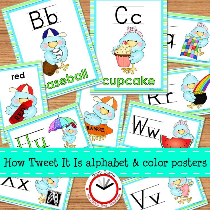 """TWEET"" alphabet and color posters.  Look for the entire How TWEET It Is collection of decor."