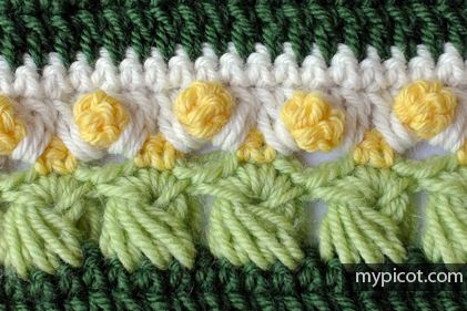MyPicot | Free crochet patterns...Multicolored long loop stitch.. Free diagram and step-by-step instructions!!