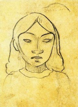 Tahitian Woman's Head - Paul Gauguin - The Athenaeum