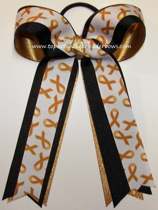 Childhood Cancer Gold Ribbon Ponytail Holder