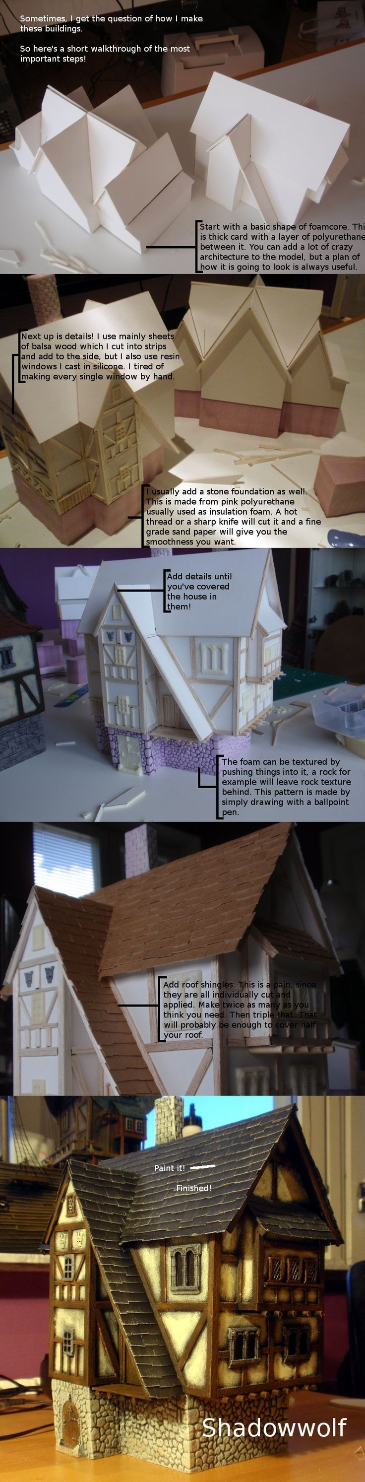 """Lol """"Make twice as many as you think you need. Then triple that. That will probably be enough to cover half your roof."""""""